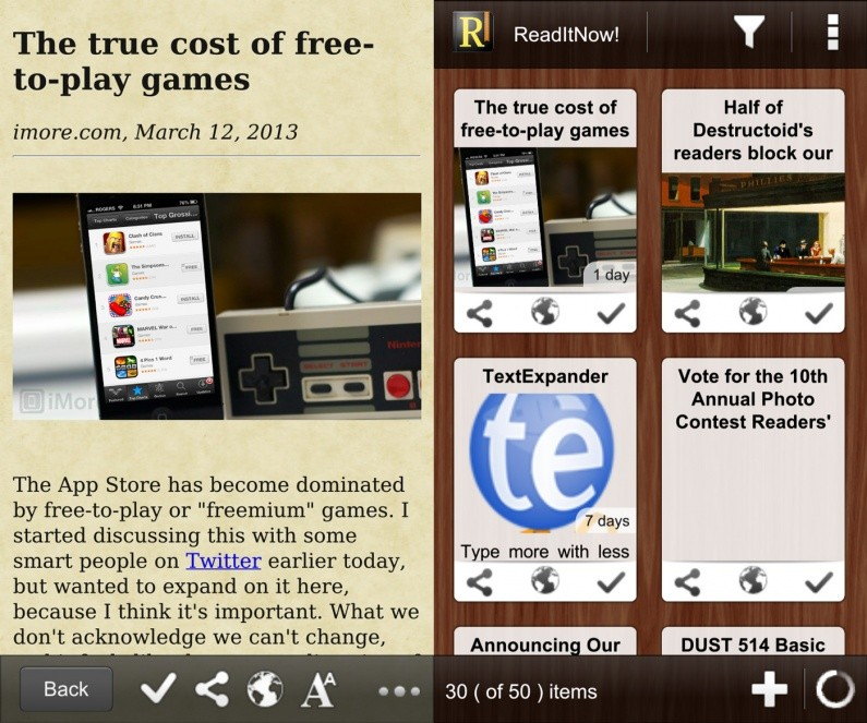 best BlackBerry apps ReaditNow