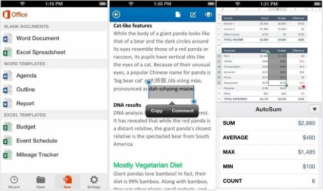 Office Mobile for iPhone