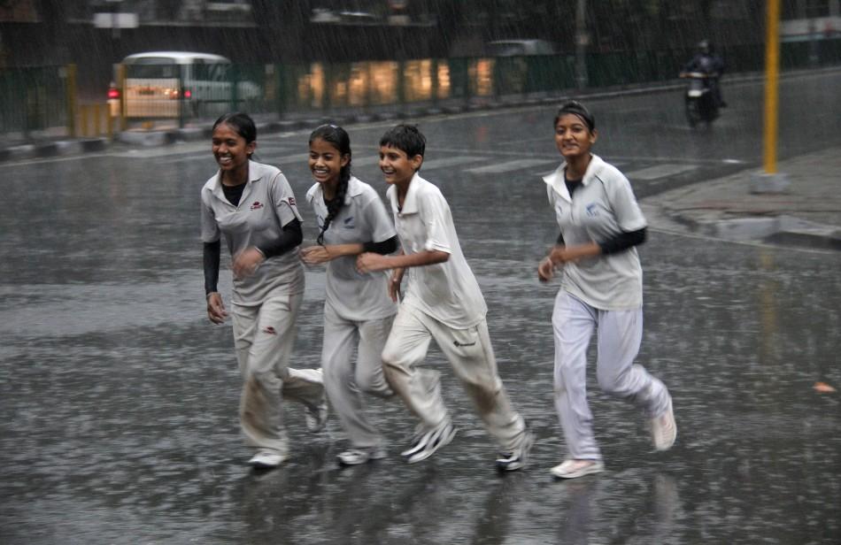 Wet teenagers