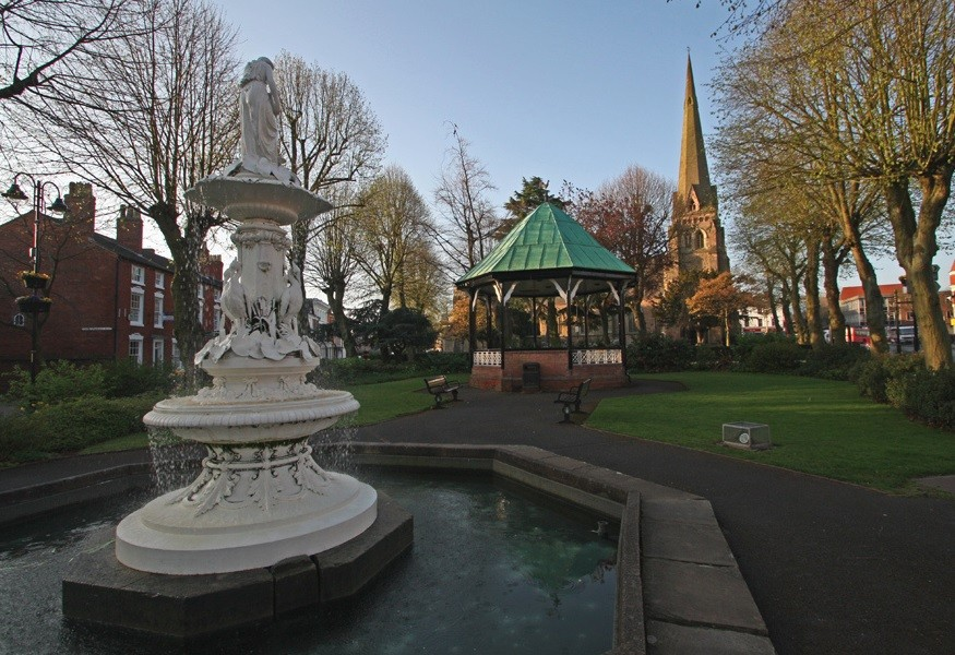 Fountain in Church Green West, Redditich