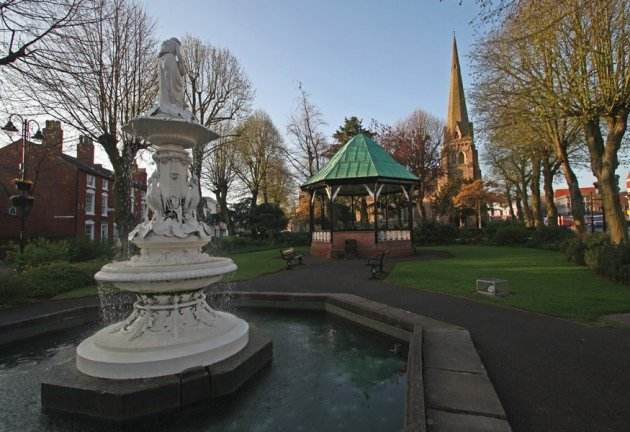 Fountain in Church Green West, Redditich