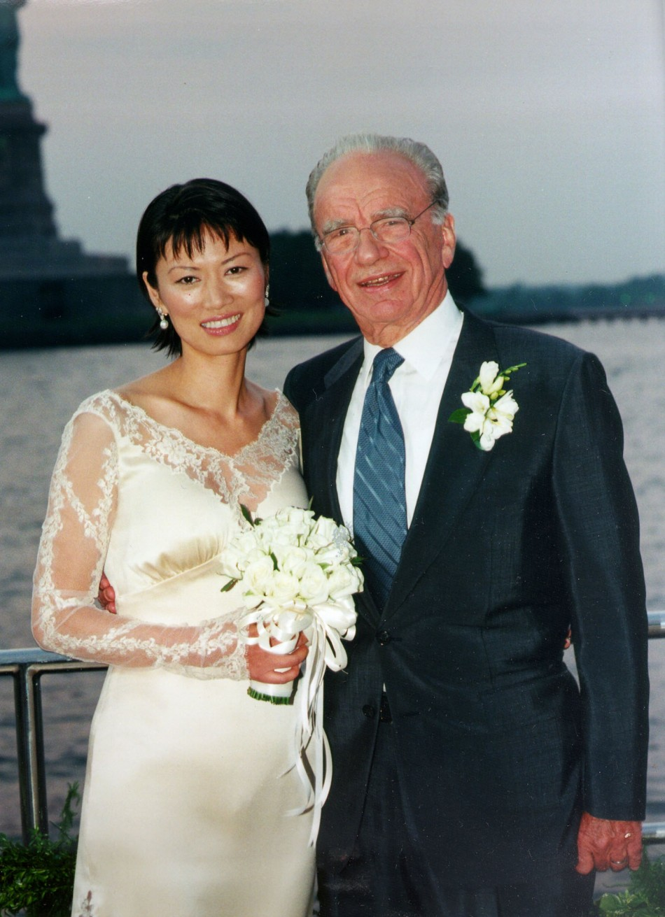 Wendi Deng and Rupert Murdoch were married on the media mogul's yacht in New York harbour. 25 June 1999