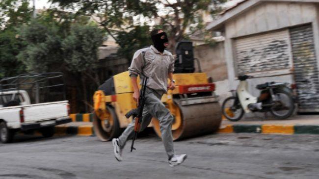 Syrian rebel fighter in Aleppo
