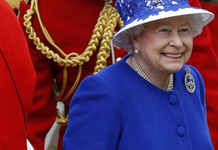 Queen Elizabeth II leaves Buckingham Palace in a horse drawn carriage for the Trooping of the Colour ceremony, at the Horse Guards Parade in London