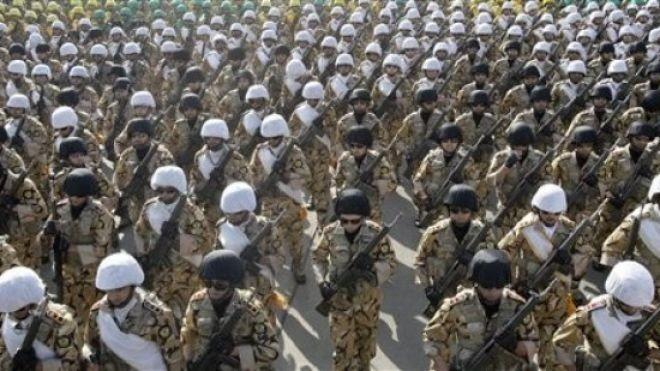 Iranian Revolutioanry Guard troops