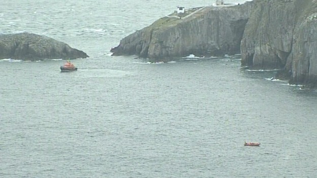 Search teams off the Anglesey coast