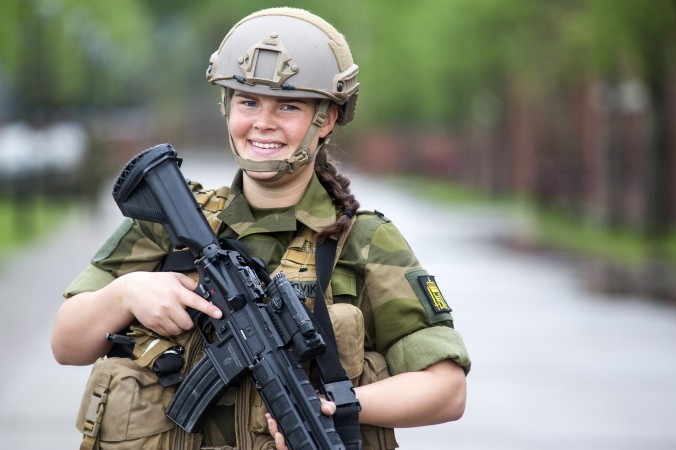 Norway is the first peacetime Nato member to conscript women into the armed forces. (The Norwegian Army)