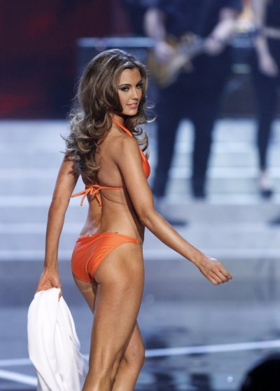 Miss Connecticut Erin Brady competes in the swimsuit portion of the Miss USA pageant at the Planet Hollywood Resort and Casino in Las Vegas, Nevada June 16, 2013.