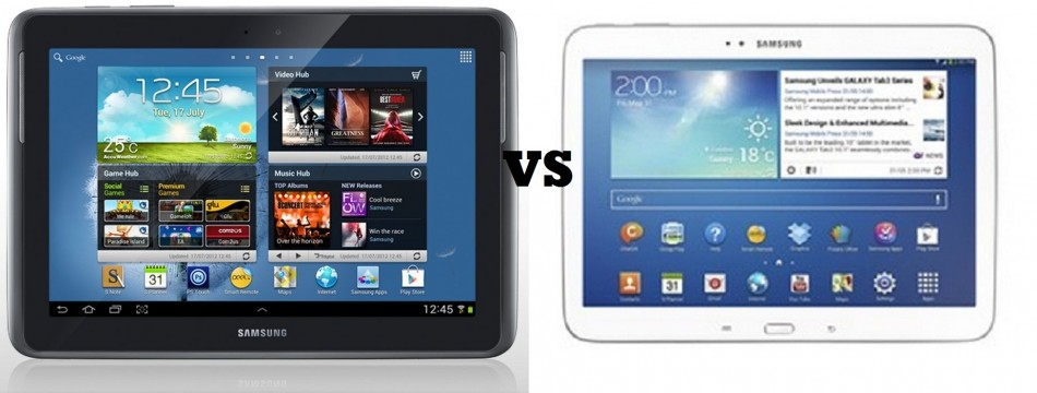 Galaxy Tab 3 10.1 vs Galaxy Note 10.1