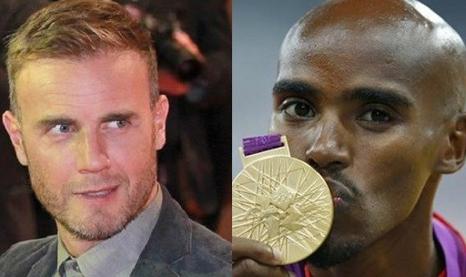 Gary Barlow and Mo Farah