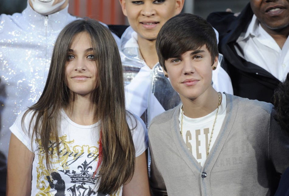 Paris Jackson with Justin Bieber/REUTERS