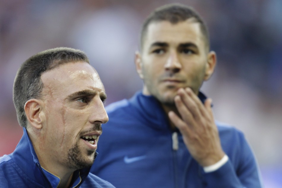 France's Franck Ribery (L) and Karim Benzema are not expected to attend the hearing (Reuters)