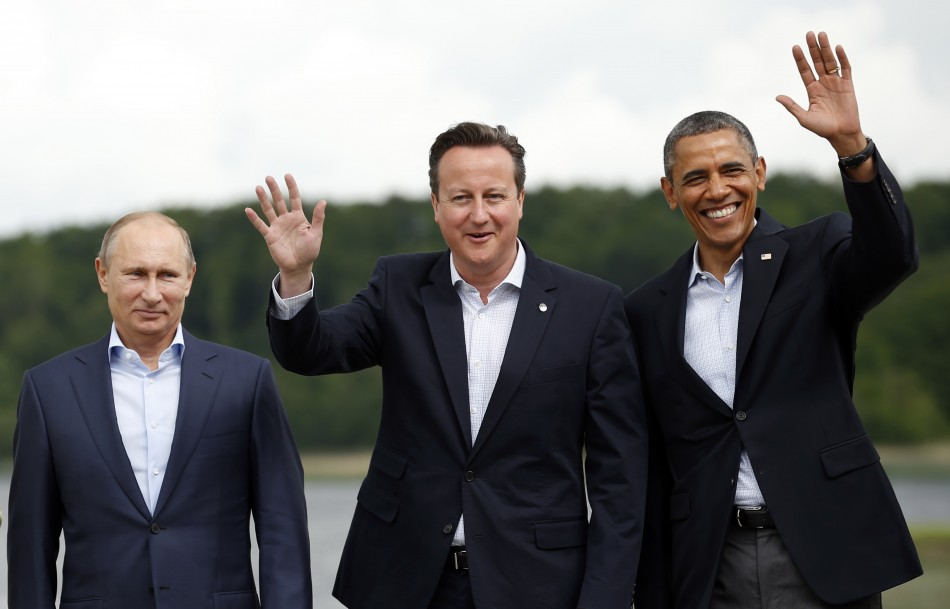 G8 leaders Putin Cameron Obama