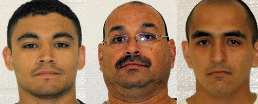 (From left) Israel Charles, Jamie Smith and Vince Aguilar were arrested in 2010 for sexual assault