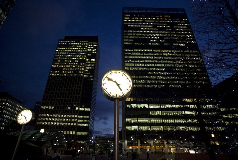 Canary Wharf clocks