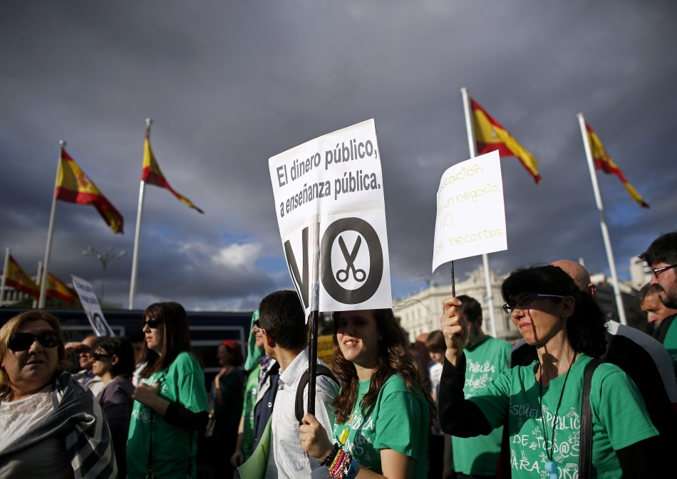 Spain protest austerity