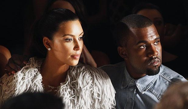 Kim Kardashain and Kanye West