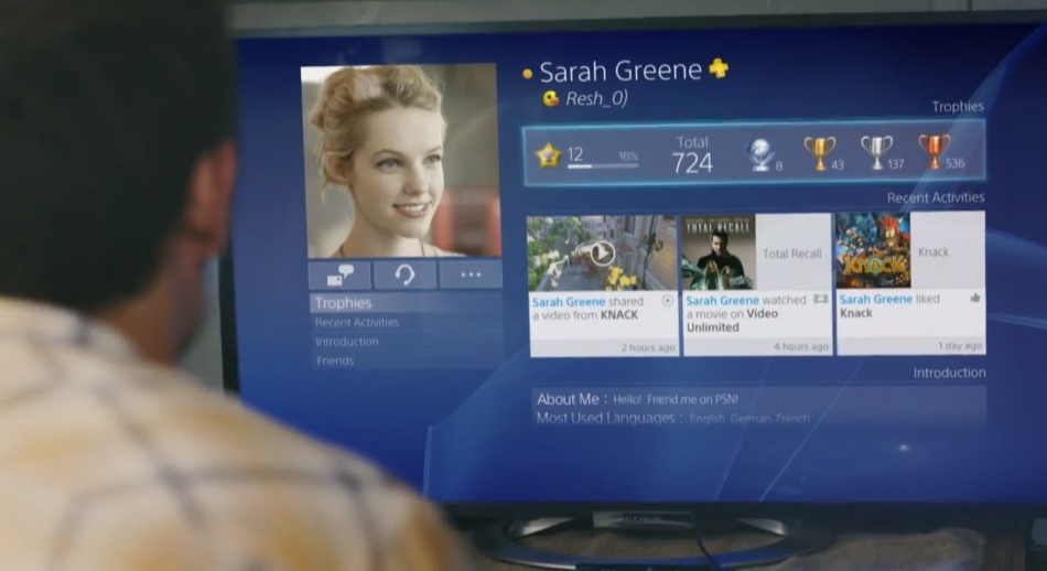 PS4 download interface