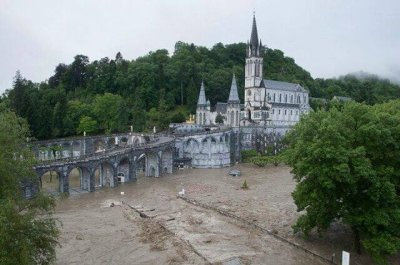 Lourdes Sanctuary Inundated