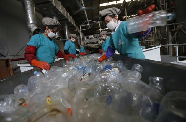 PET plastic recycling factory in Beijing