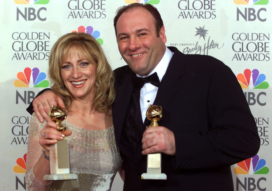 Edie Falco, who played Tony Sopranos long-suffering wife Carmela in the award-winning series, at the Golden Globes