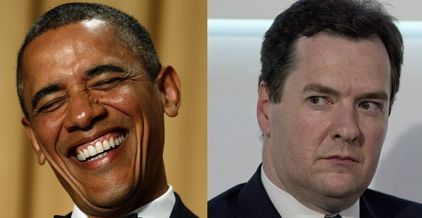 Barack Obama called the Chancellor 'Jeffery' on three separate occasions (Reuters)