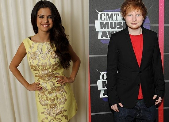 Selena Gomez and Ed Sheeran