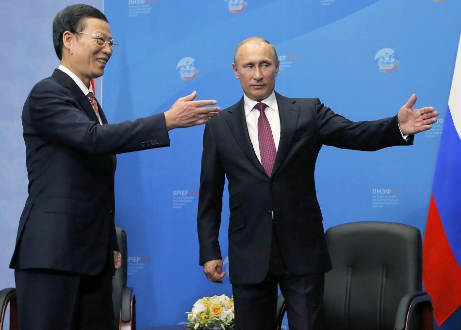 Vladimir Putin Russia China Rosneft Zhang Gaoli