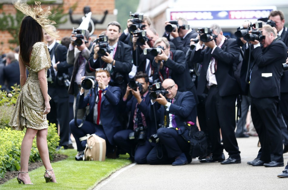 Melanie Mar poses for photographers on the first day of the Royal Ascot