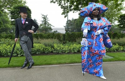 Racegoers attend the second day of the Royal Ascot horse racing festival