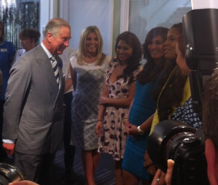Prince Charles and The Saturdays