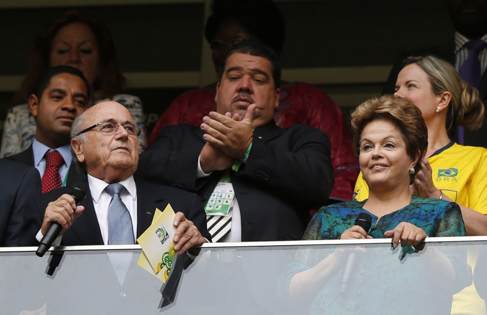 Sepp Blatter and Dilma Rousseff