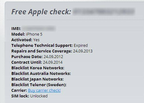 How To Check Iphone Carrier Using Imei For Free FREE iPhone