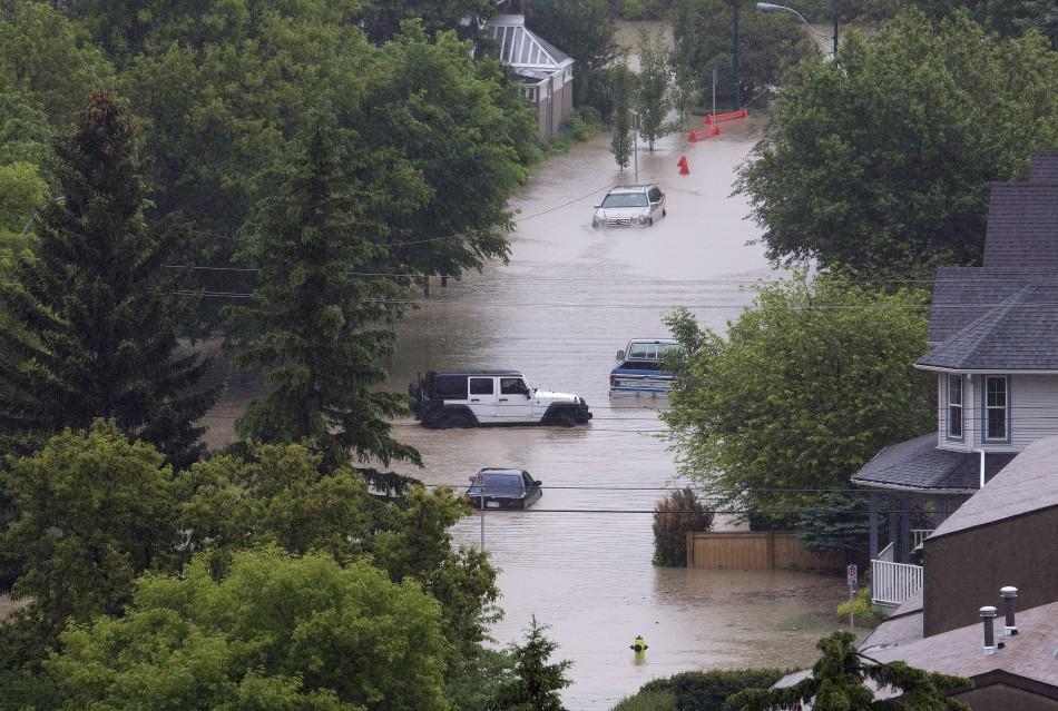 Floods hit a Calgary neighbourhood