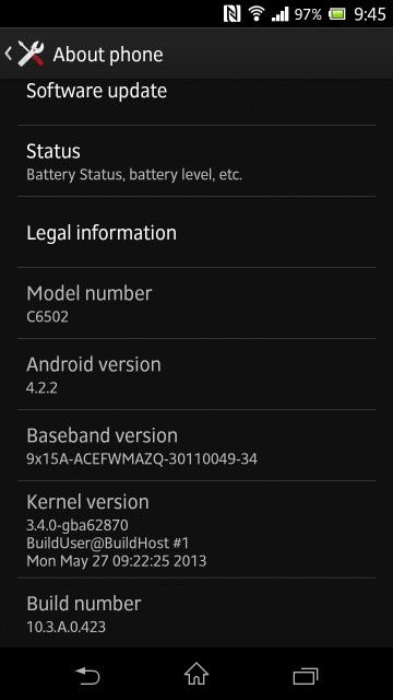 Sony Rolls Out Latest Android 4.2.2 Jelly Bean OTA Firmware for Xperia ZL [Download Link]
