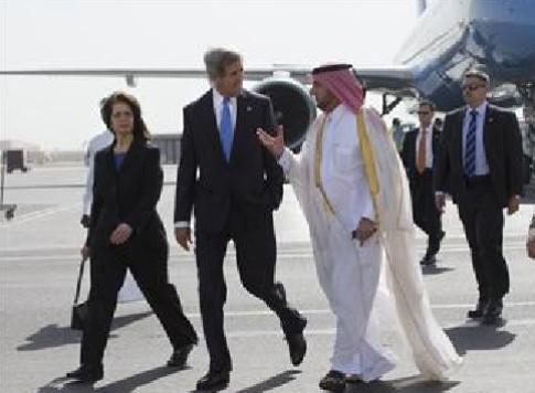 John Kerry arrives in Doha, Qatar