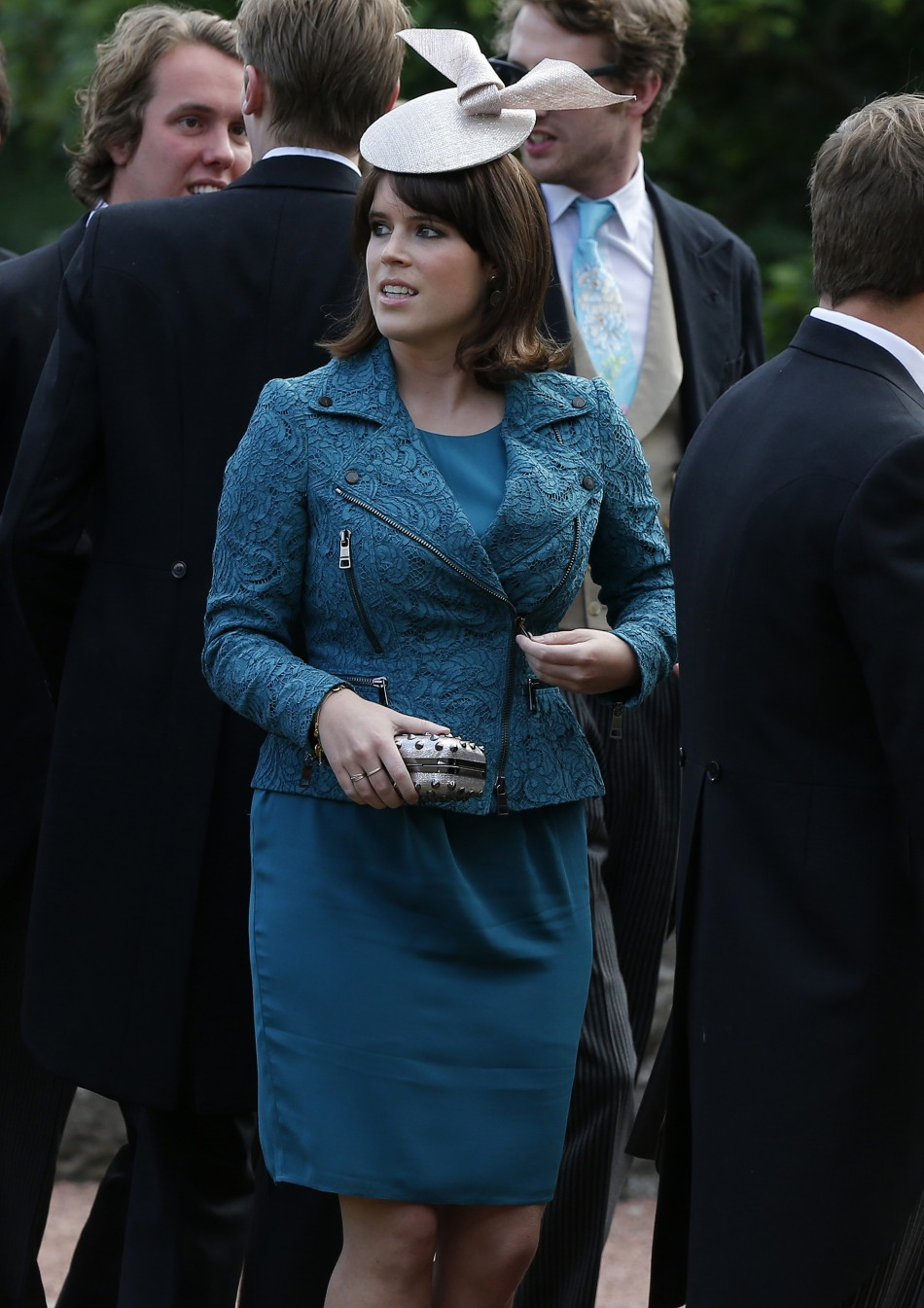 Princess Eugenie arrives for the wedding