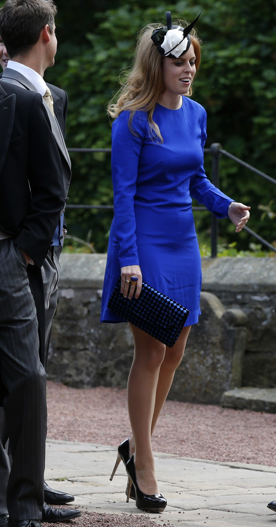Princess Beatrice R arrives for the wedding