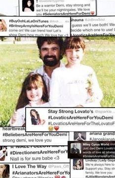 Demi Lovato with father Patrick and elder sister Dallas