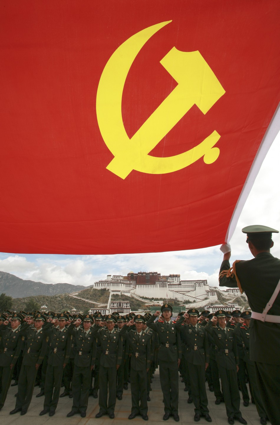 Chinese police in Lhasa, Tibet