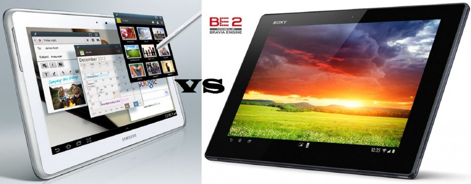Sony Xperia Tablet Z Vs Samsung Galaxy Note 10.1