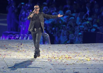 Michael performs during the closing ceremony of the London 2012 Olympic Games