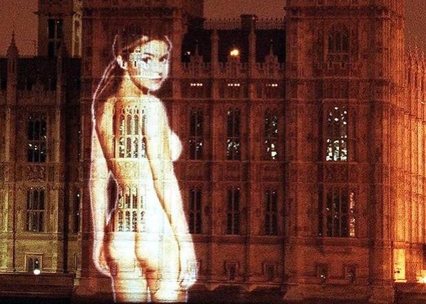 Pert Porter splashed on Parliament wall