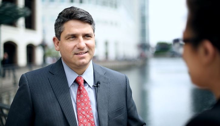 Christopher Cabrera CEO of Xactly talks to IBTimes UK on bonuses (Photo: IBTimes UK)