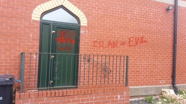 Police are still investigating the incident at the mosque in Bolton (Twitter/ Nazia Mogra)