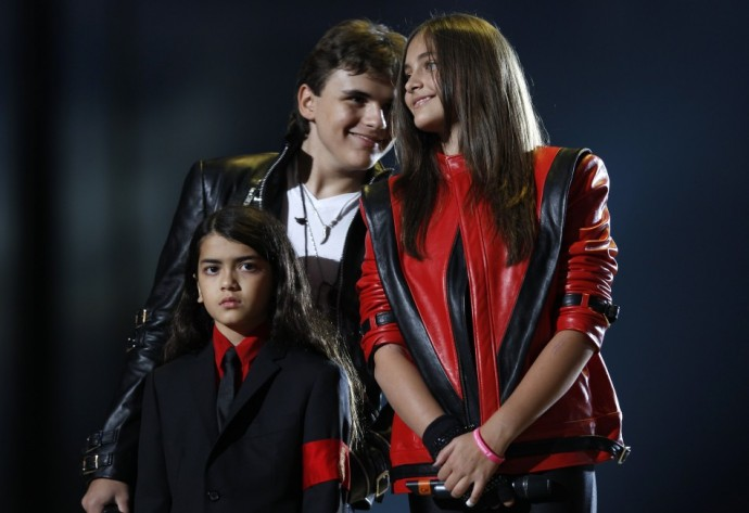 Michael Jackson's children (L-R), Blanket, Prince and Paris