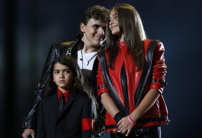 Michael Jackson's children (L-R), Blanket, Prince and Paris