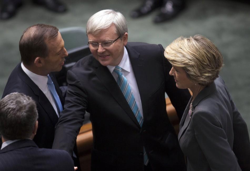 Kevin Rudd with Tony Abbott