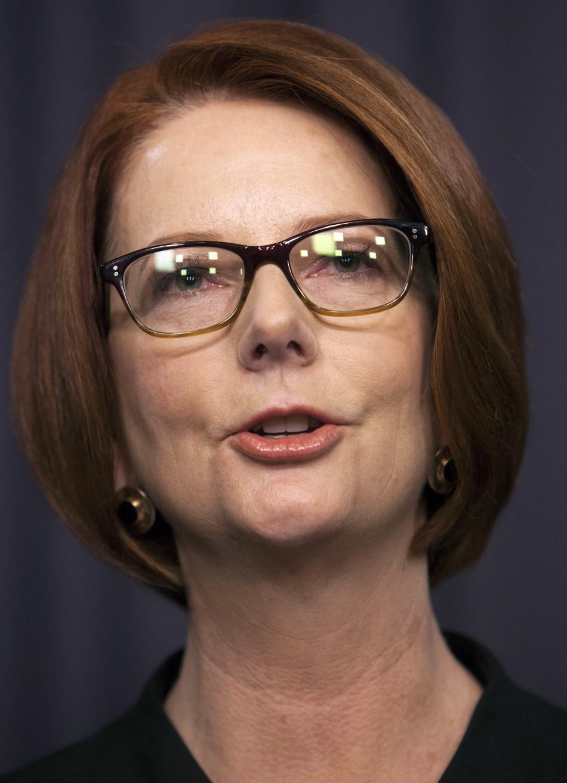 Julia Gillard emotional