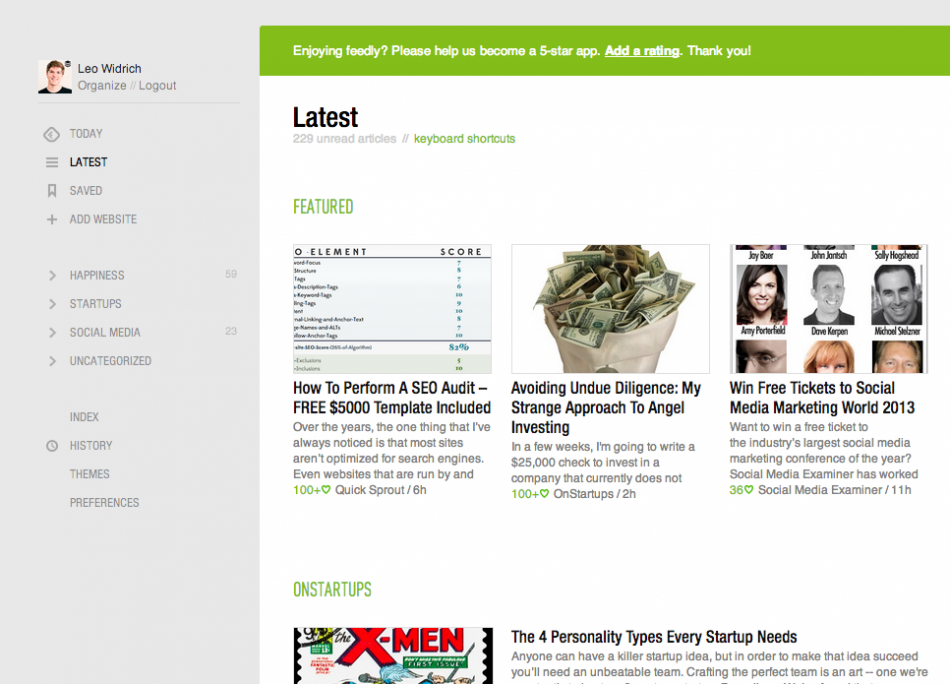 best rss readers feedly